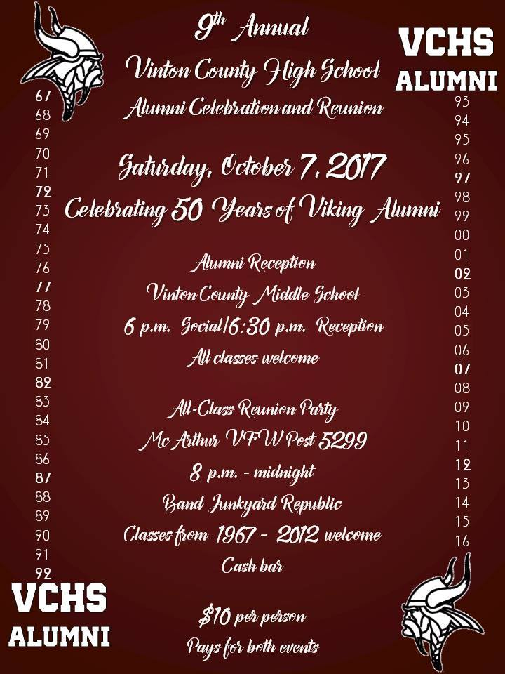 VCHS Alumni Celebration 10-7-2017