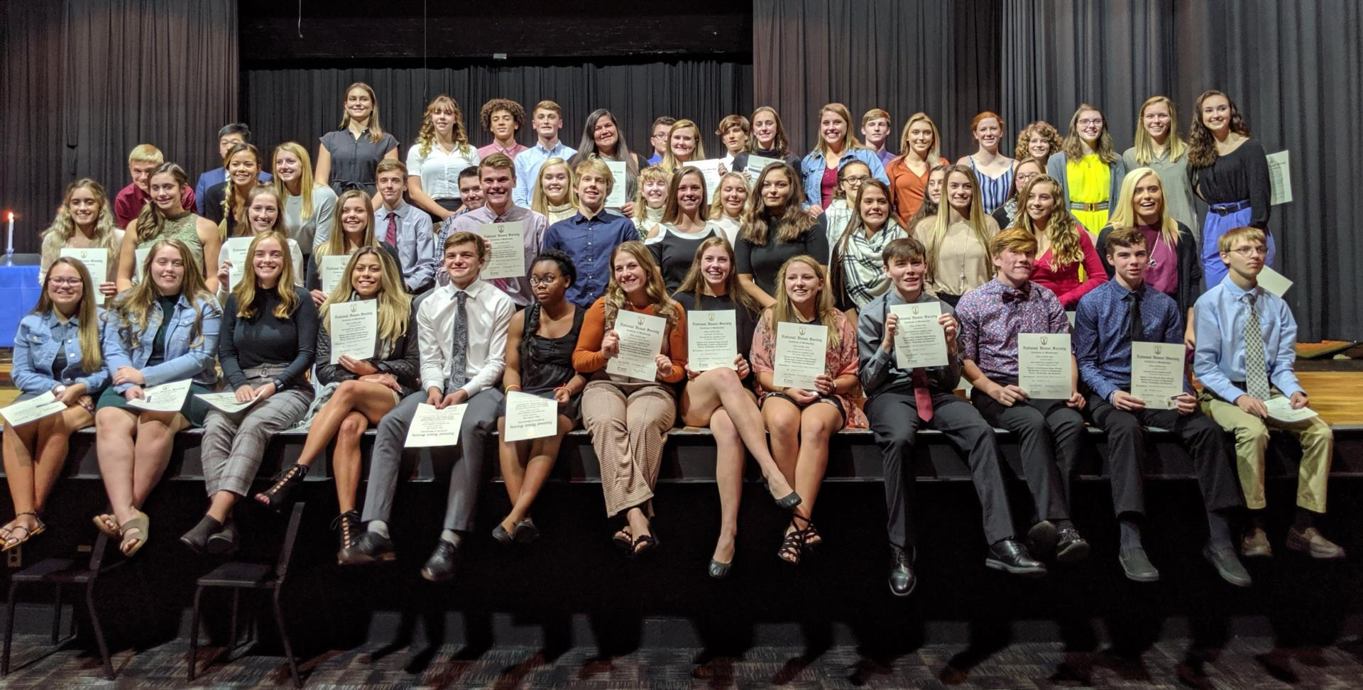 New National Honor Society members 2019