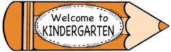 Pencil clip Welcome to Kindergarten