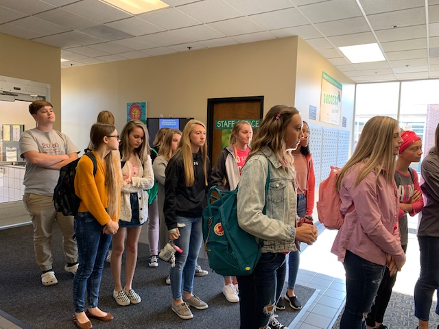 Students Visiting Wright State University