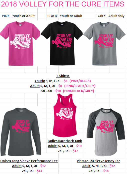 Volley 4 a Cure Shirts