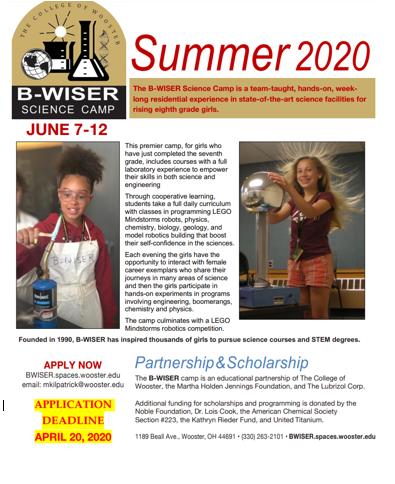 B Wiser Summer Camp