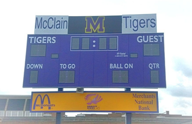 Pic of new scoreboard