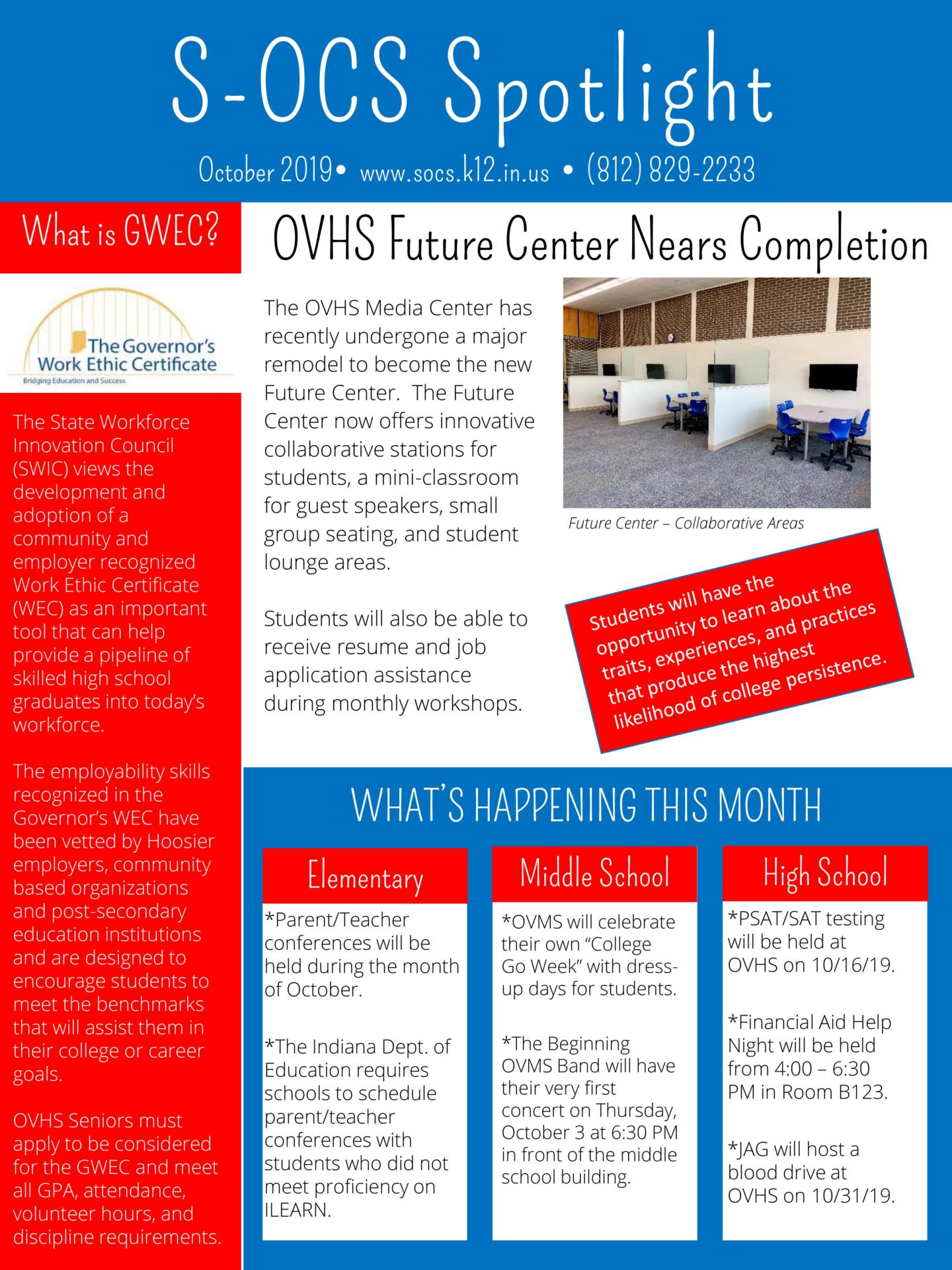 October news about schools