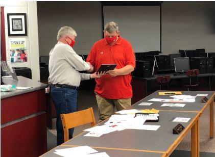 Mark Caudill Receives Award