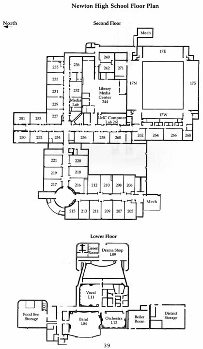 NHS 2nd Floor Map