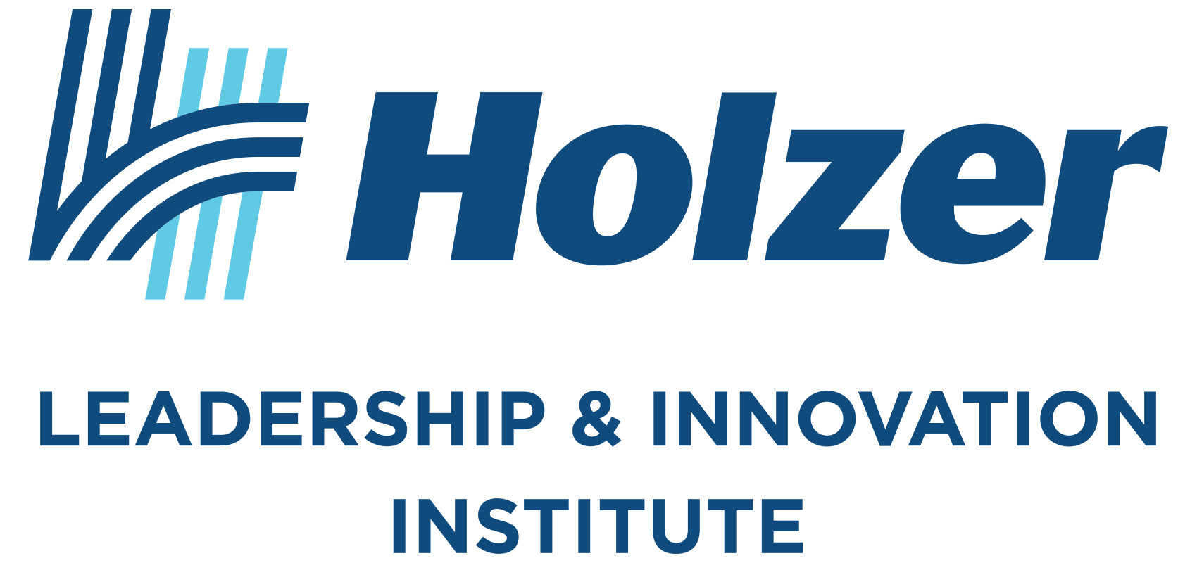 Logos for the Leadership Academy and Holzer Leadership & Innovation Institute